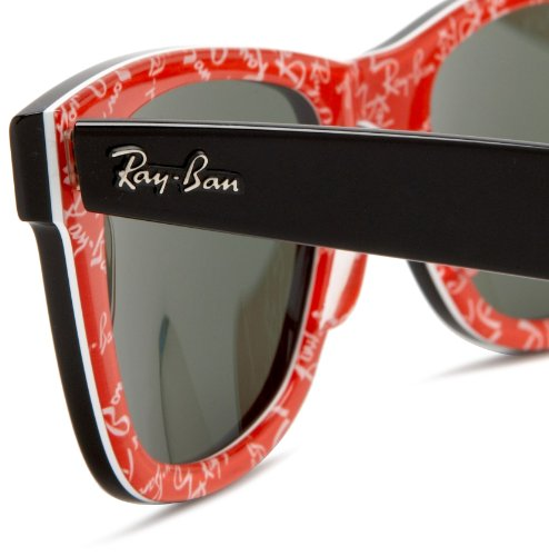 ray ban rb2140 original wayfarer sunglasses 50mm  Ray-Ban RB2140 Original Wayfarer Sunglasses 50 mm,Black On Red ...
