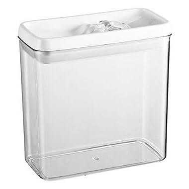 Felli Flip Tite Acrylic Food Storage Rectangular Canister, 91 oz. (1)