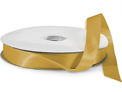 Gold Ale Double Faced Satin Ribbon 7/8''x100 yds 100% Polyester (2 Spools) -WRAPS-DFS5684 by Miller Supply Inc