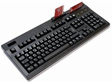 Active Key Teclado con lector 3 pistas-USB-Negro: Amazon.es ...