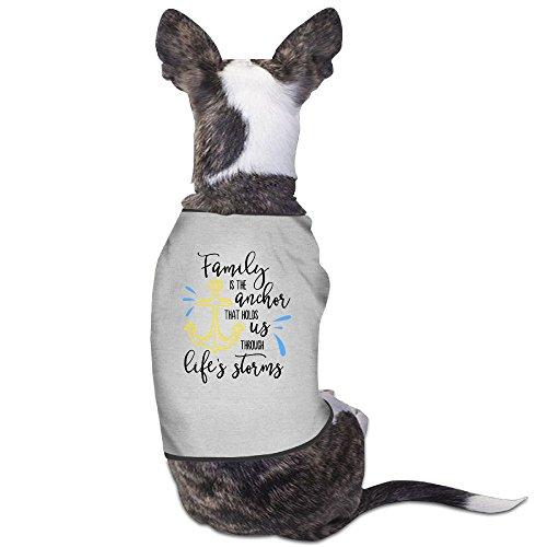 Family Is The Anchor Liurenzheng Dog Shirt Costume Xmas Large Dog Hoodie ()