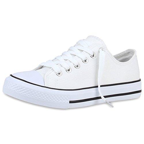 Zapatillas planas, unisex, deportivas Weiss Bianco