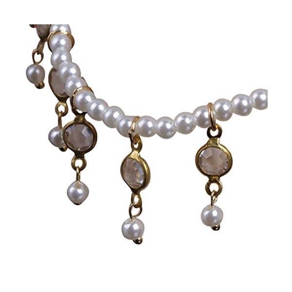 WeiMay 1 X Crystal Pearl Beaded cavigliera catena donne braccialetto alla caviglia sandalo a piedi nudi accessori da… 6 spesavip