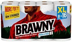 2-Pk. Brawny Pick-a-Size Paper Towels XL Rolls Pack of 8