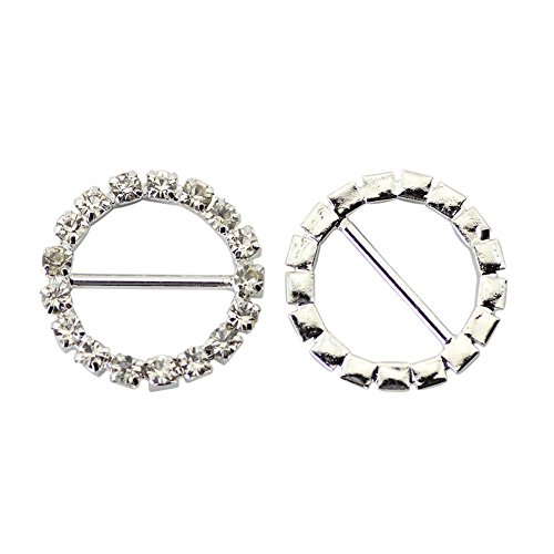 Home Product 10pcs Rhinestone Round Diamonds Buckle Sliders For Clothes Bags and Handlace DIY Clothes Decorative Buttons