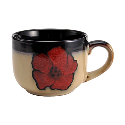 (Pfaltzgraff Painted Poppies Jumbo Soup Mug, 28-Ounce)