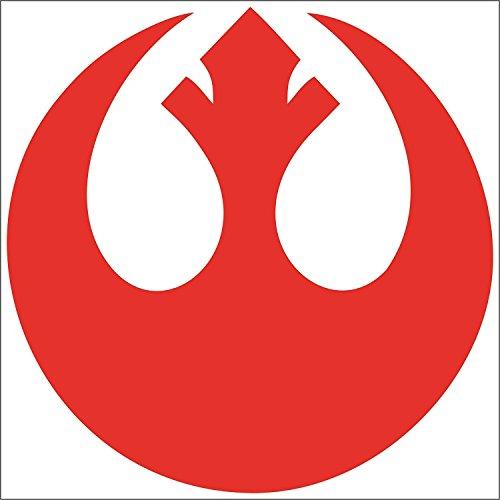 (Cove Signs 148 Star Wars - Rebel Alliance Symbol Die Cut Premium Vinyl Decal - Red 4