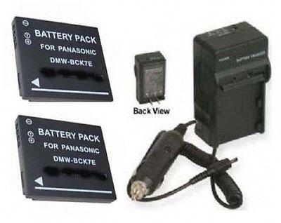 2電池+充電器for Panasonic dmwbck7 dmwbck7pp、Panasonic dmcs3ebka Panasonic dmcs3ebwa B01DLNL8WQ