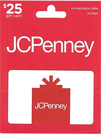 Amazon JCPenney Gift Card 25 Cards