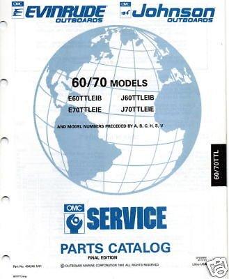 1991 OMC OUTBOARD MOTOR 60 & 70 HP PARTS MANUAL (70 Hp Parts Manual)