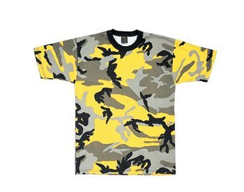 Rothco T-Shirt, Yellow Stinger Camo, 2X Captain Yellow T-shirt