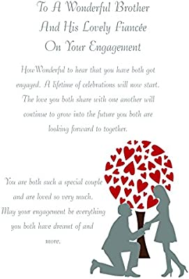 Brother /& Fiancee Engagement Card