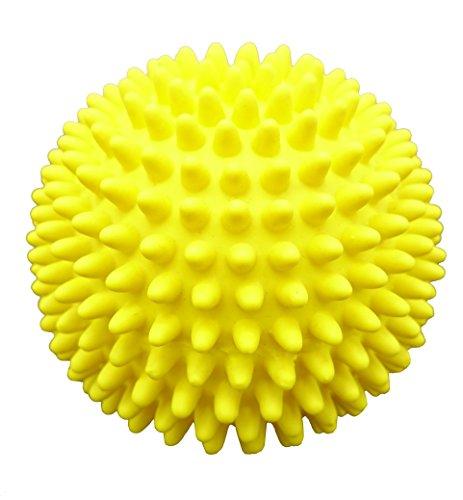 - Latex Spiky Ball Dog Toy (Yellow)
