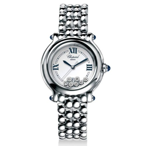 204d886b66018 Image Unavailable. Image not available for. Colour: Chopard Women's  27/8236-23 Happy Sport Diamond White Dial Watch