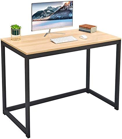 SINPAID Upgrade Computer Desk Better Sturdy Bold Frame 40 Inch Home Office Desk Modern Simple PC Desk