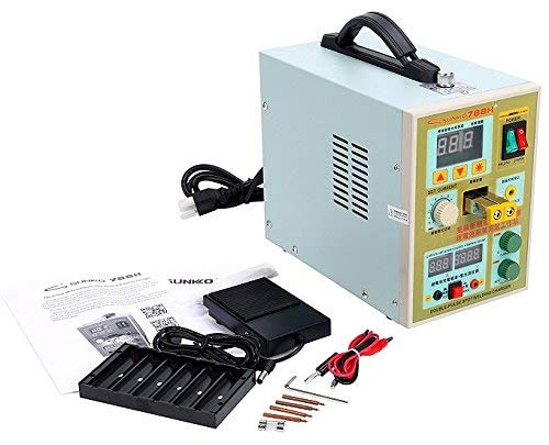 Sunkko 788H LED Dual Pulse Spot Welder 18650 Battery Charger 800 A 0.1 - 0.2 mm 36V 60A