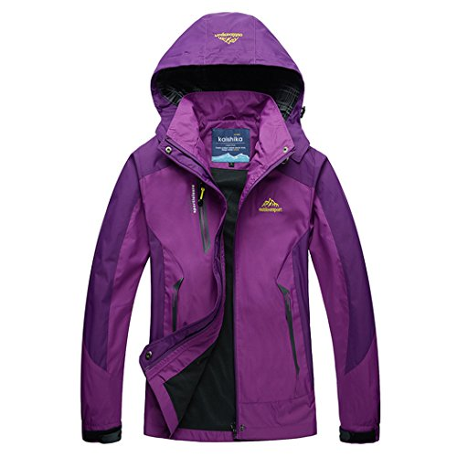Modern Fantasy Womens Windproof Hooded Outdoor Sport Softshell Jacket Size US Purple - Rab Discount Store