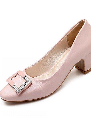 Uk6 Habillé Ggx Talons 5 amp; us8 Eu39 Travail Gris Cn40 Beige À Blanc rose Pink talons Chaussures Décontracté Talon gros Femme bureau chaussures 5 microfibre 4XrwBqX