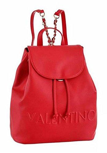 Valentino Damen Rucksack aus Lederimitat in Rot