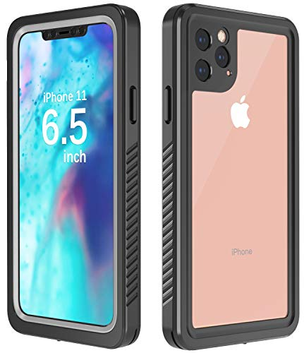 Temdan Designed for iPhone 11 Pro Max Case,Built-in Screen 360 Full-Body Protector Real Heavy Duty Rugged Shockproof Dustproof Case Compatible for iPhone 11 Pro Max 6.5inch 2019 Release-(Black/Clear)