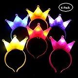 UChic 6 ST�CKE Crown LED Stirnband Blitzlicht Luminous f�r Halloween Konzert Leistung Party Hochzeit Spielzeug Kopfschmuck Erwachsene Kinder (Farbe Randmoly)