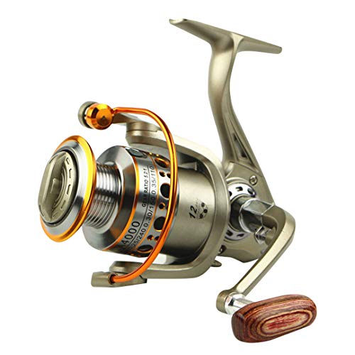- KEHAINIU 2000-7000 12BB 5.5:1 Feeder Fishing Reel Metal Spinning Reels Carp Fishing Reels Gold 12 3000 Series