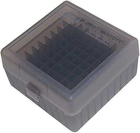 RM-100 MTM 100 Ronde De Munitions De Fusil Box RM-100 Transparent bleu