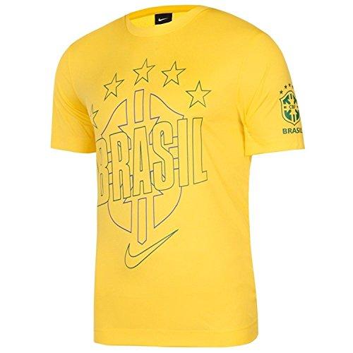 Nike Youth Soccer T-shirt - Nike YOUTH Brasil/Brazil core T-shirt (YS)