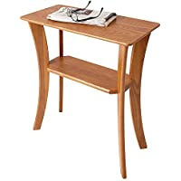 Manchester Wood Contemporary Chairside Table - Golden Oak