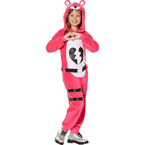 A Team Halloween Costumes (InSpirit Designs Fortnite Zipster Cuddle Team Leader One-Piece Costume for Children, Size Large, Features Hood and)