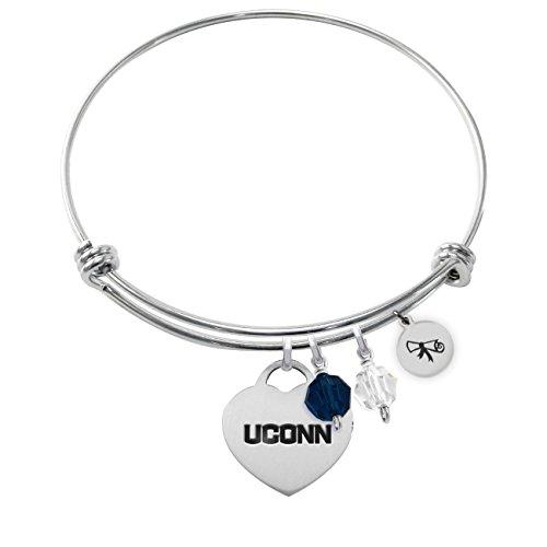 University of Connecticut Huskies Adjustable Graduation DIPLOMA Bracelet With Heart (University Graduation Charm)