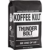 Koffee Kult THUNDER BOLT WHOLE BEAN COFFEE with French Roast Colombian Coffee Artisan Roast - 16oz