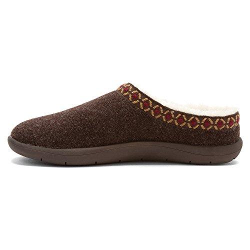 Tempur-pedic Womens Subarctische Slipper Chocolade Wol / Nylon