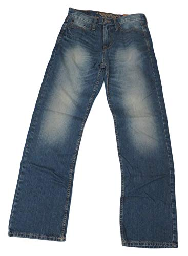American Eagle Outfitters Denim - American Eagle Outfitters Men's Relaxed Straight Denim Blue Jeans, 30 x 32