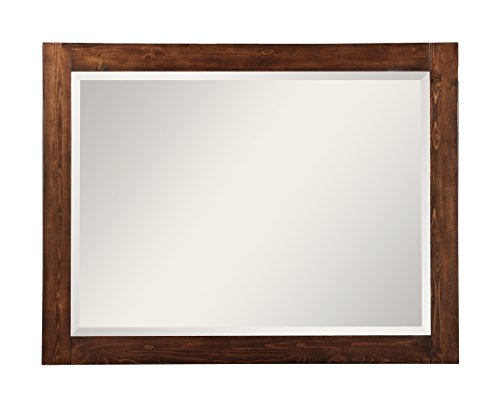 Modus Furniture 9CR183 Cally Solid Wood Mirror, Antique Mocha (Vanity Light Southwest)