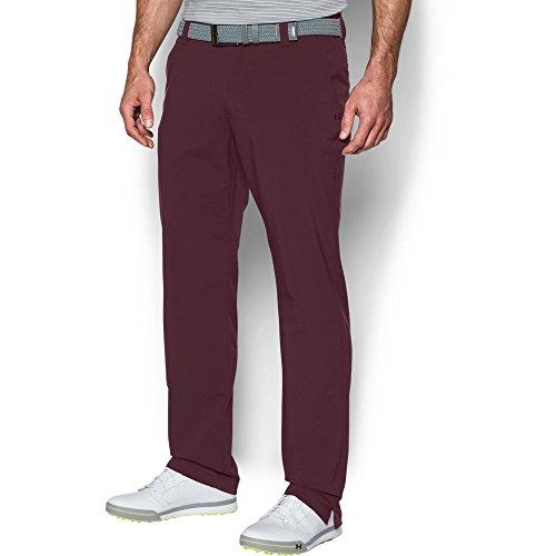 Under Armour Men's Match Play Golf Pants,Raisin Red /Raisin Red, 36/30