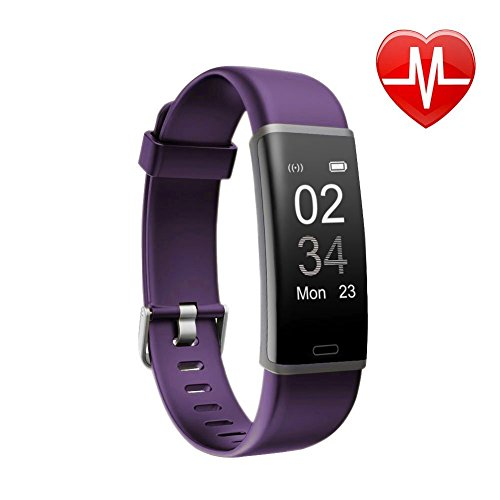 Letsfit Fitness Tracker, Activity Tracker Watch with HR Monitor, Step Counter, Pedometer Watch, Calorie Counter Smart Watch for Kids Women and Men