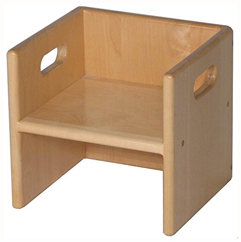 Strictly for Kids Cube Chair in Maple