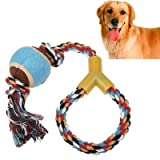 SRY-Pet Supplies Pet Cotton Rope Toys with Tennis Ball - Pet Toys - Dog Toys - Random Color Delivery