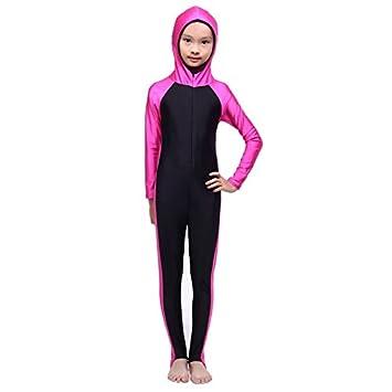 c212e4004ca8f Vyage(TM) New Muslim Arab Kids Girls Modest Swimwear Full Cover One-piece Swimsuit  Islamic Beachwear: Amazon.co.uk: Sports & Outdoors