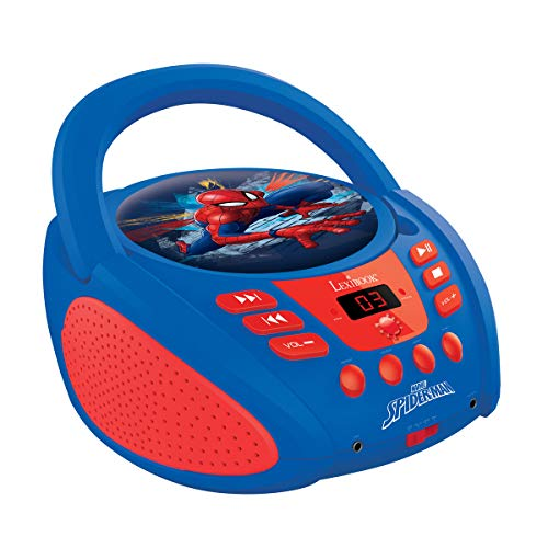 LEXiBOOK Spider-Man Boombox Radio CD - Cd For Player Kids Spiderman