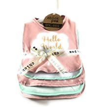 Chick Pea Baby 5Pk Bib Set (pink)