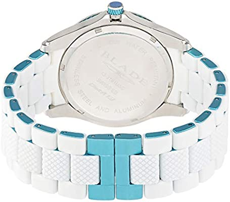 BLADE Women's Blue Dial Aluminum Band with Silicon Wrap Band Watch
