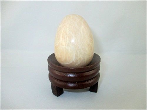 Jet Natural Moonstone Gemstone Egg 45-50 mm A+ Hand Carved Crystal Altar Healing Devotional Focus Spiritual Chakra Cleansing Metaphysical Jet International Crystal Therapy Image is JUST A Reference.