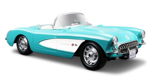 Diecast 1957 Corvette (Maisto 1:24 Scale Turqouise 1957 Chevrolet Corvette Diecast Vehicle)