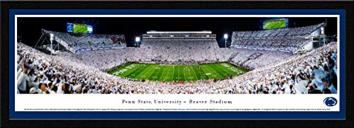 Penn State Nittany Lion Football (White-Out) - Single Mat, Select Framed Print by Blakeway Panoramas