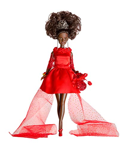 Inspiring Kindness - Princess OMALIE Black African American Princess Doll Gala Edition Included Doll Stand and Friendship Bracelet KIT ()