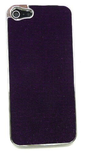 Emartbuy ® Apple Iphone 5 Textured Lila Clip On Protection Case / Cover / Skin