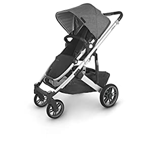 UPPAbaby-Cruz-V2-Stroller-Jordan-Charcoal-MelangeSilverBlack-Leather-Bassinet-Jordan-Charcoal-MelangeSilver