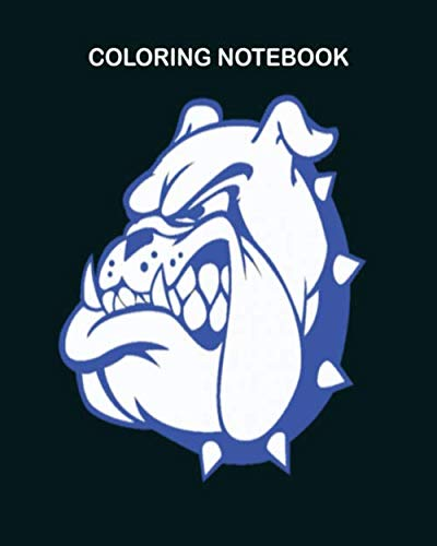 Coloring Book: bulldawgs_wht_blue - 50 sheets, 100 pages - 8 x 10 inches